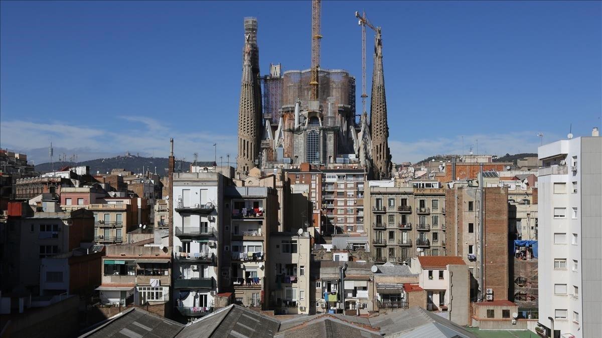 Viviendas en la zona de Sagarda Familia de Barcelona.