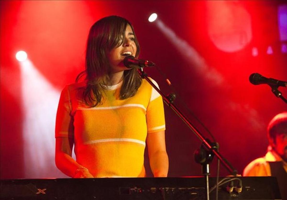 Maika Makovski, durante una actuación en Barcelona, el año pasado.