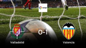 El Valencia vence 0-1 al Real Valladolid