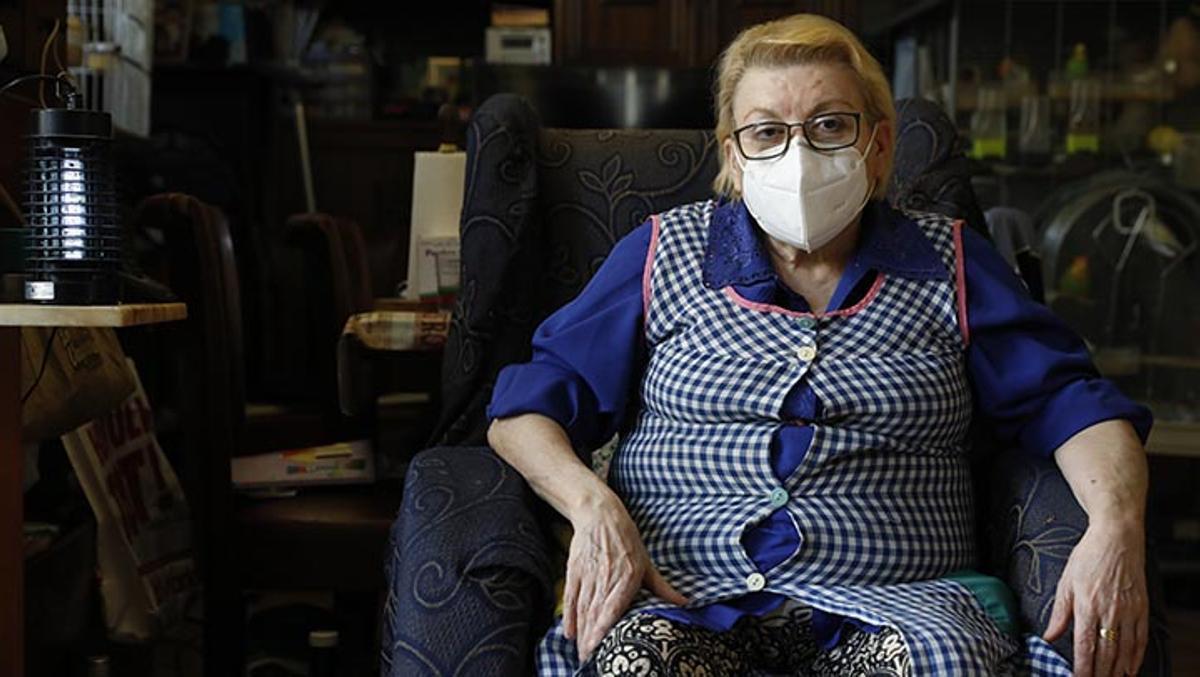 Juana Fernández, afectada por las listas de espera de la sanidad pública.