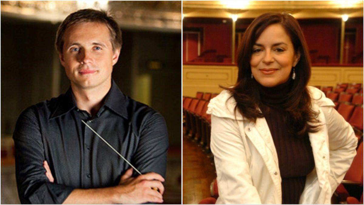 El director Vasili Petrenko y la mezzosoprano Nancy Fabiola Herrera.