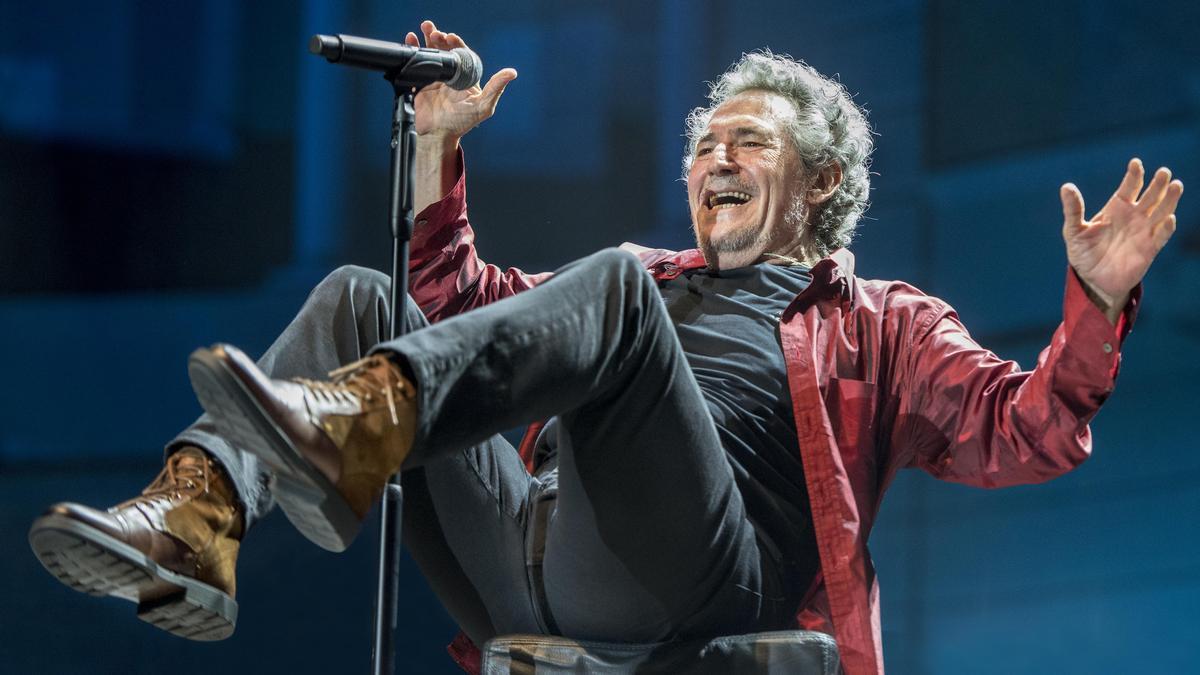 Miguel Ríos, durante el concierto que ofreció este fin de semana en Pedralbes.