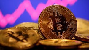 Representación de un bitcoin.