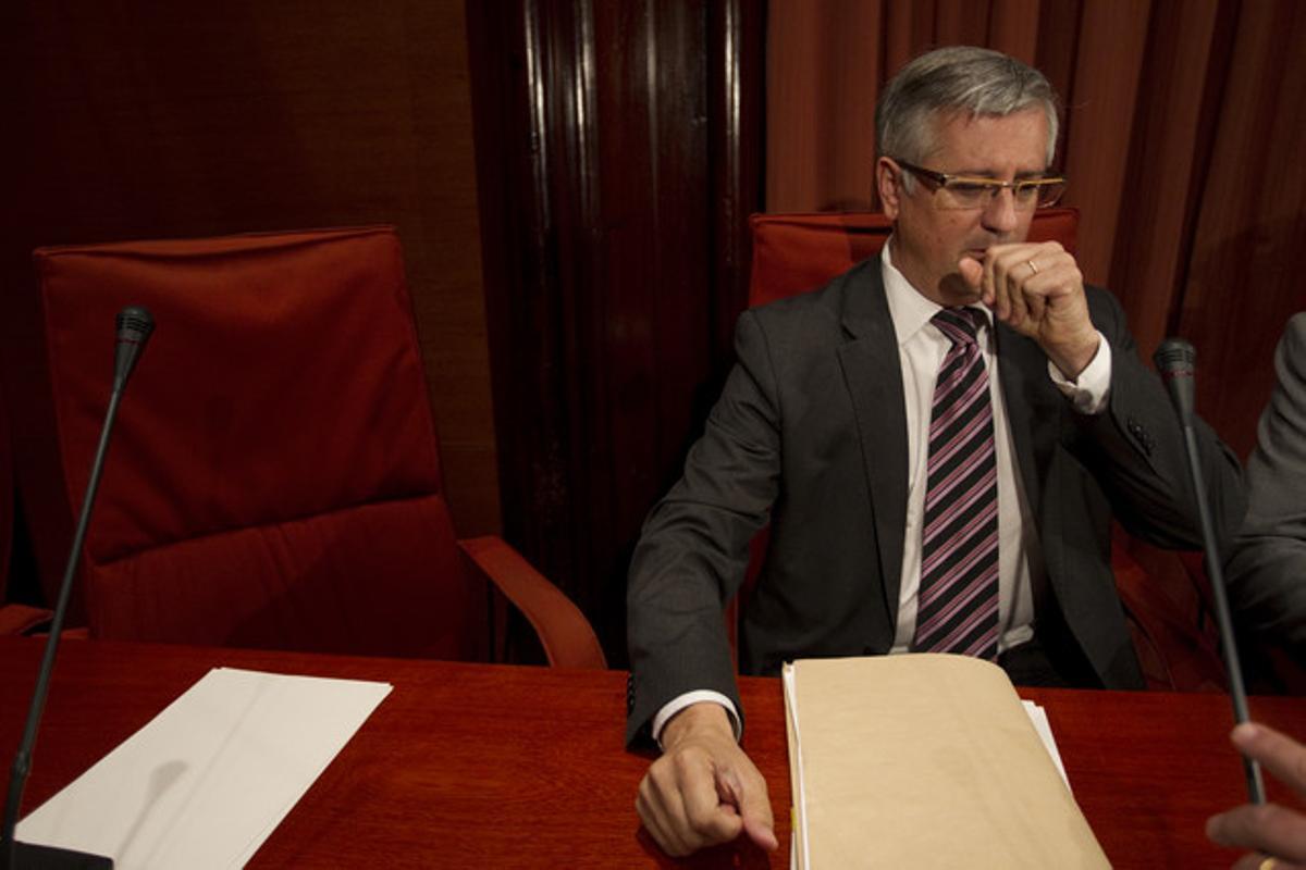 Xavier Martorell, durante su comparecencia en comisión parlamentaria, el pasado 30 de mayo.