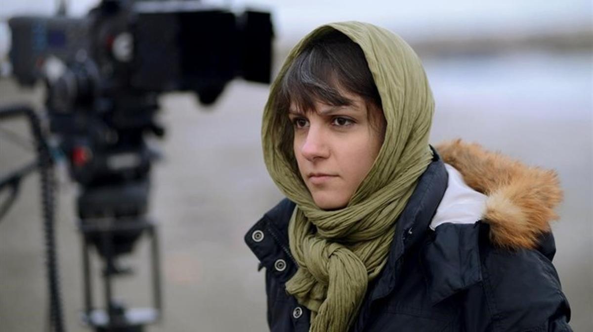 La directora iraní Ida Panahandeh, durante el rodaje de su pleícula 'Nahid'.