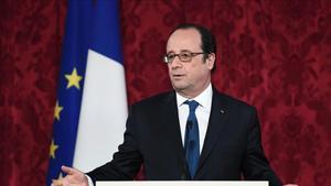 François Hollande, el pasado 8 de febrero, en un acto en el Elíseo.