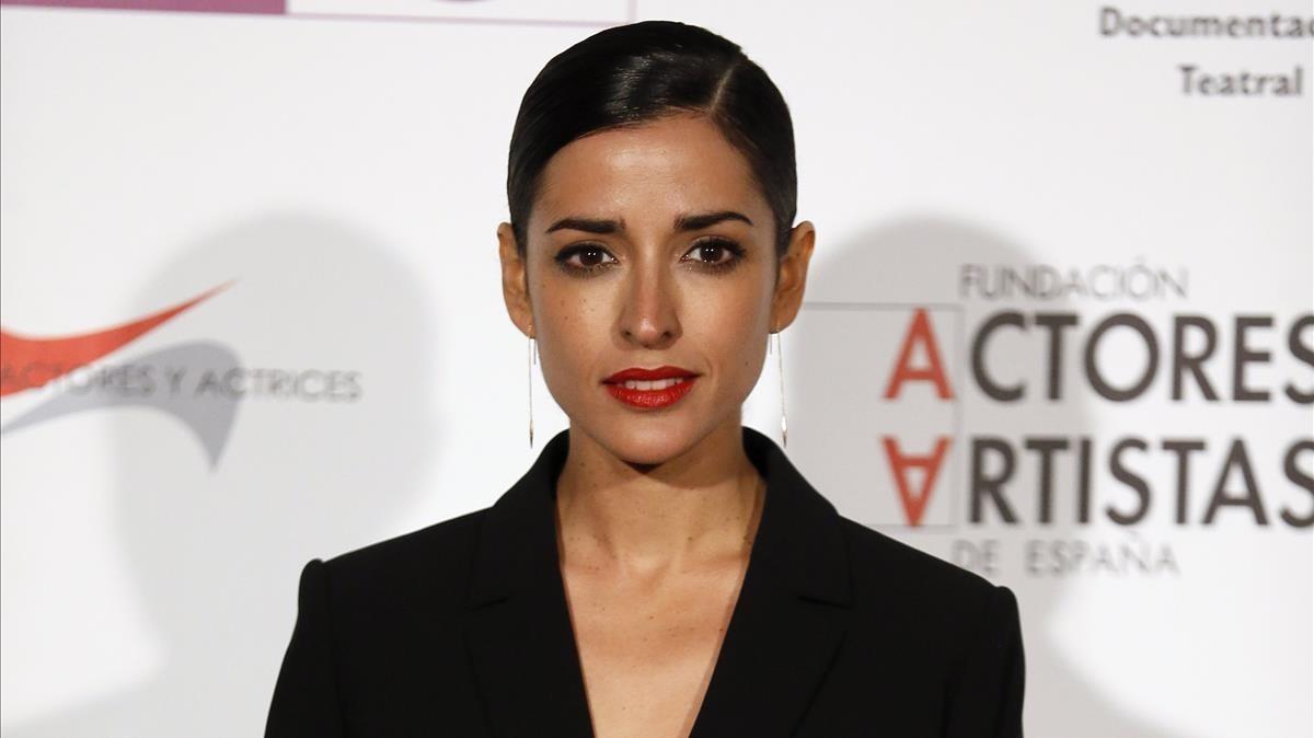Laactriz valenciana Inma Cuesta, en la gala de los Premios de la Unión de Actores y Actrices, en Madrid.