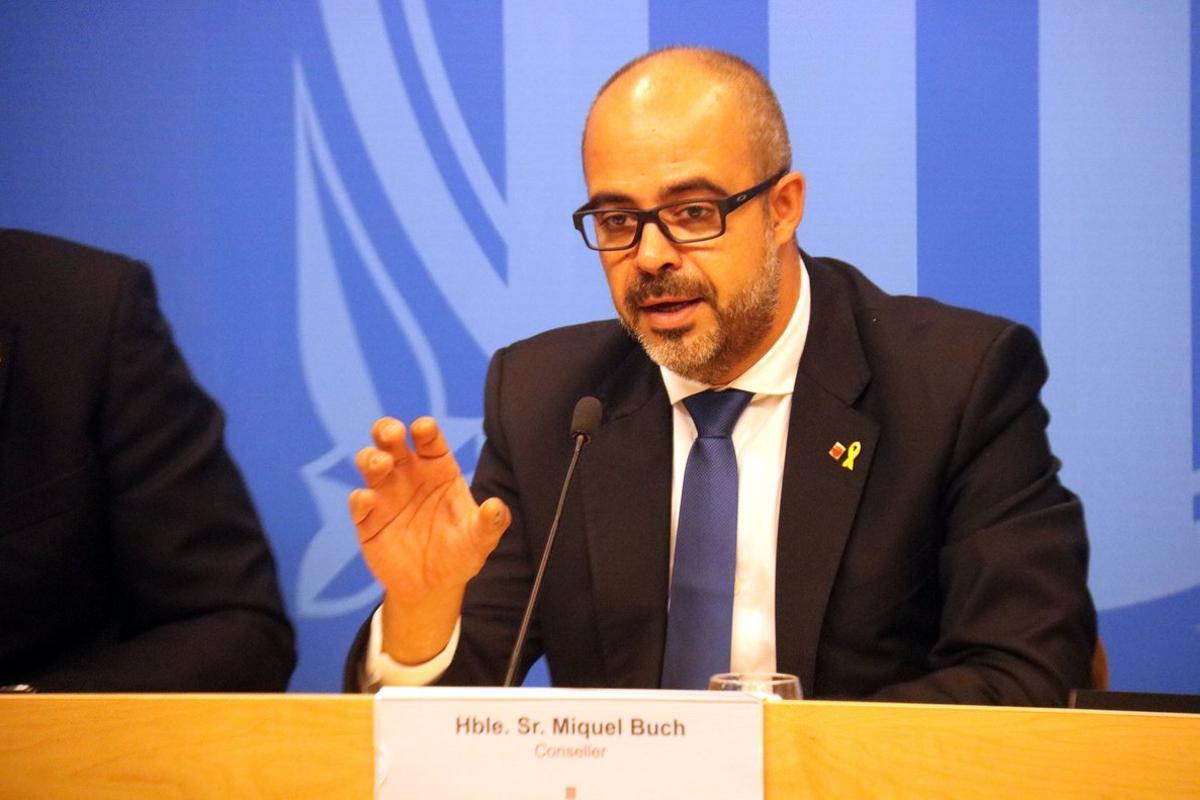 El 'conseller' de Interior, Miquel Buch, en una imagen de archivo.