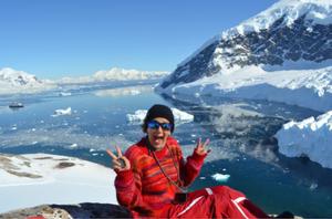 Anna Cabré, durante la expedición a la Antártida de 2019