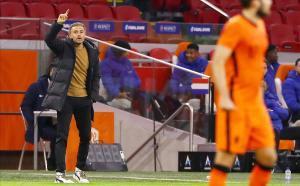 Luis Enrique, durante el partido de España contra Países Bajos.