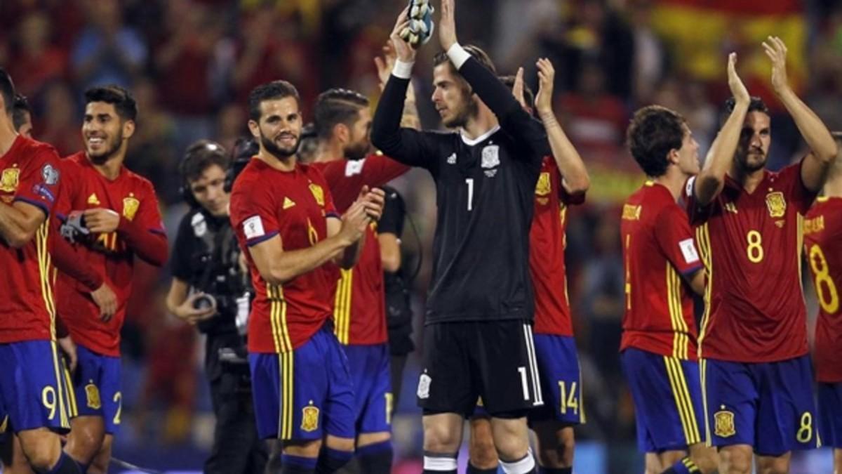 La selección española de fútbol.