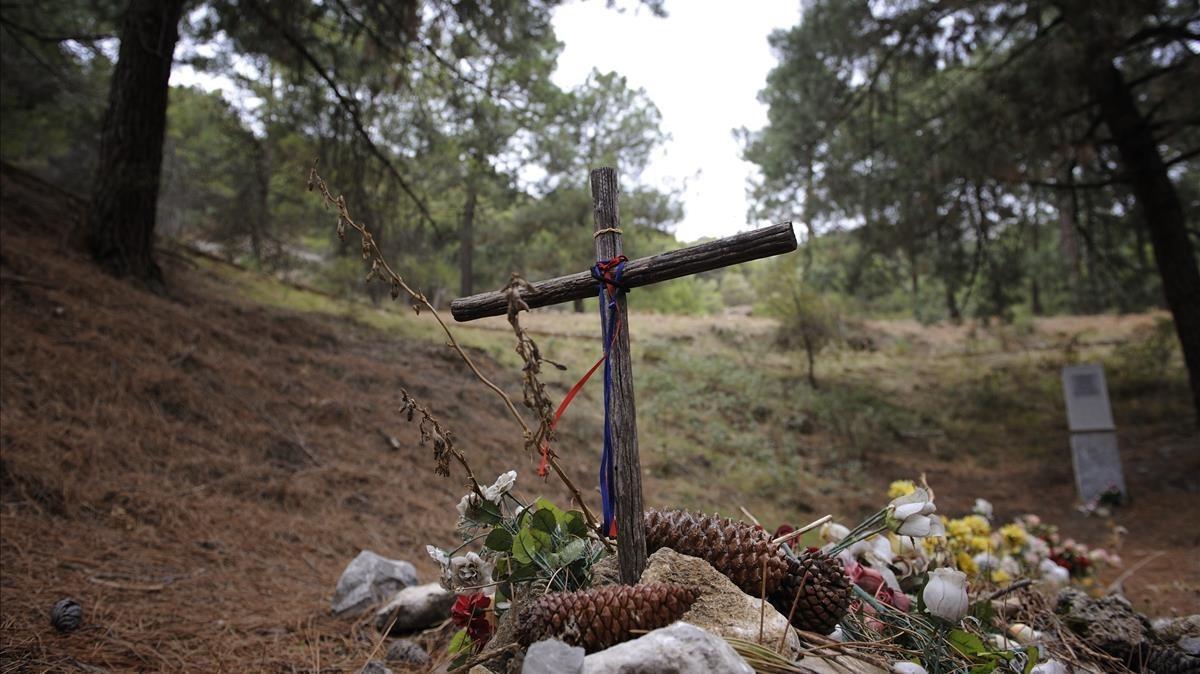 La fosa común de Viznar, cerca de donde se pone que fue asesinado García Lorca.