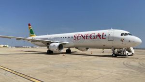 El Airbus A321 de Air Senegtal.