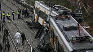 Imagen de archivo del accidente de tren en Vacarisses.