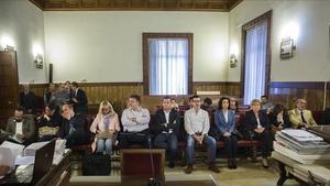 Banquillo de los acusados por la trama 'Gurtel'.