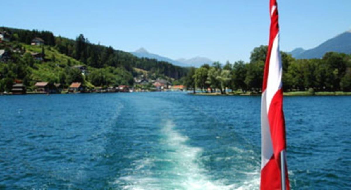 El lago Milstätter See, en Austria, donde el niño se hundió bajo el agua.