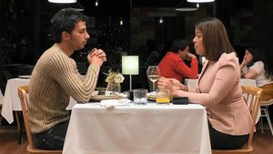Adrián y Idayret en 'First Dates'