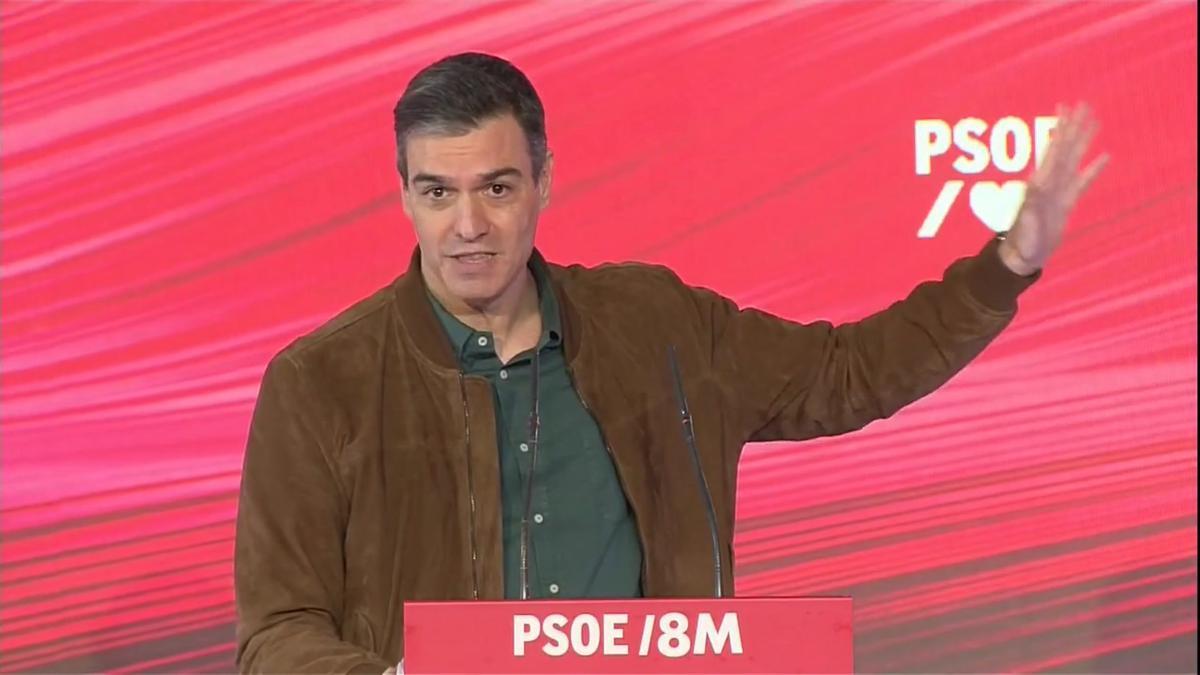 Pedro Sánchez: El principal adversario del feminismo se llama ultraderecha.