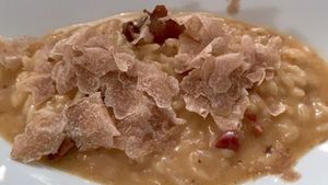 'Risotto' con trufa blanca del restaurante Nectari.