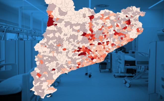 Diez municipios concentran el 47% de las muertes por covid-19 en Catalunya