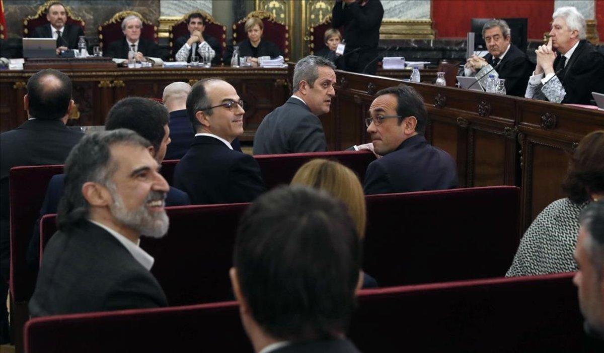 Jordi Cuixart, Jordi Turull, Joaquim Forn y Josep Rull.