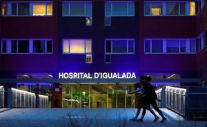 Acceso del Hospital de Igualada.