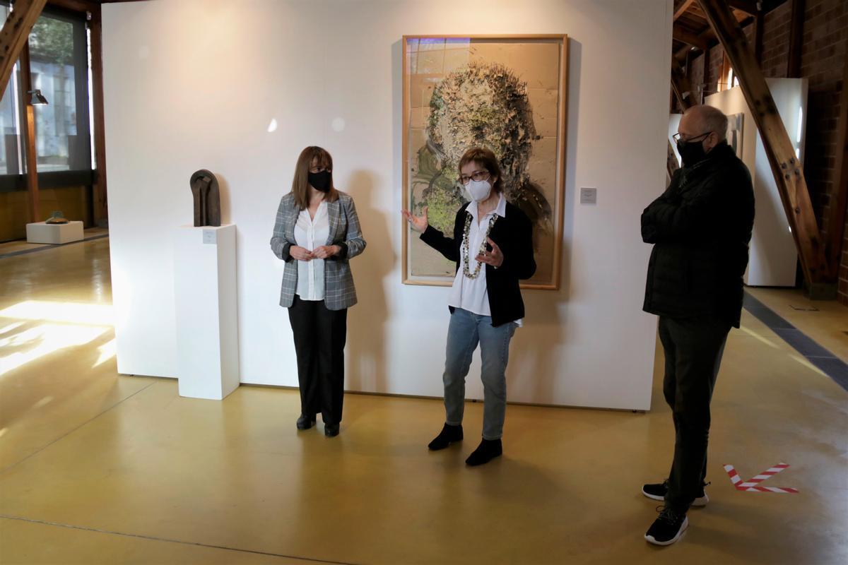 Presentación de la la exposición de la Col·lecció Bassat sobre los años 90, en la Nau Gaudí de Mataró.