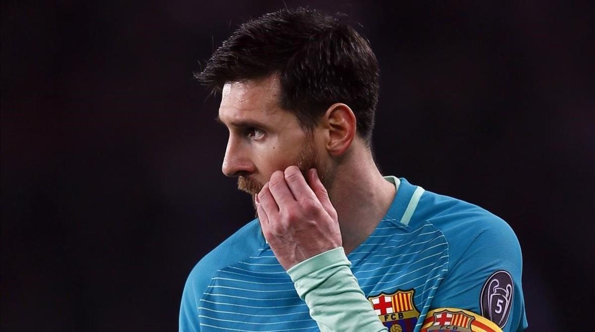 Leo Messi, en París.