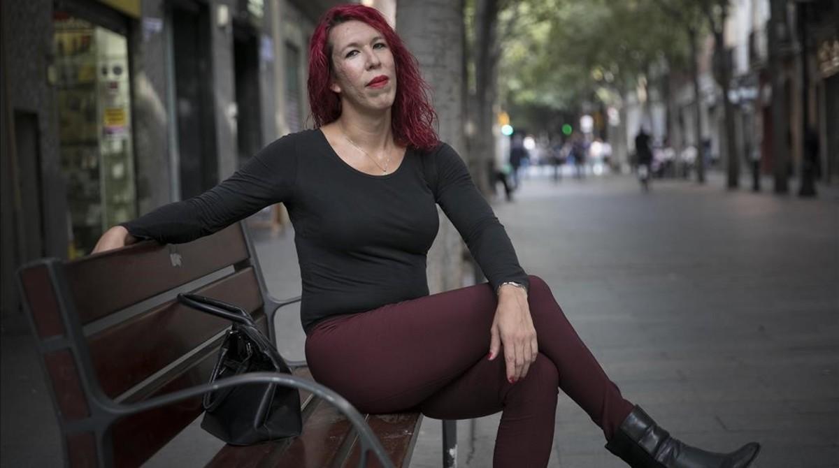 Sabrina Sánchez, en la calle de Rogent de Barcelona, la semana pasada.