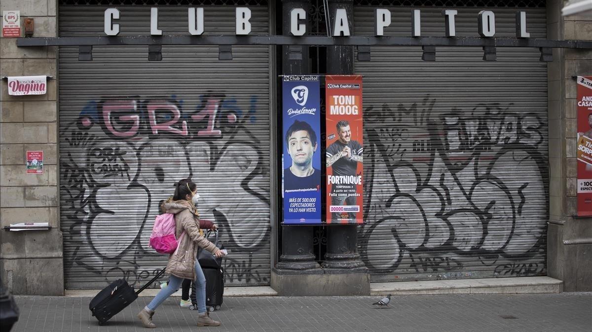 El Club Capitol, el pasado marzo, cerrado por el coronavirus.