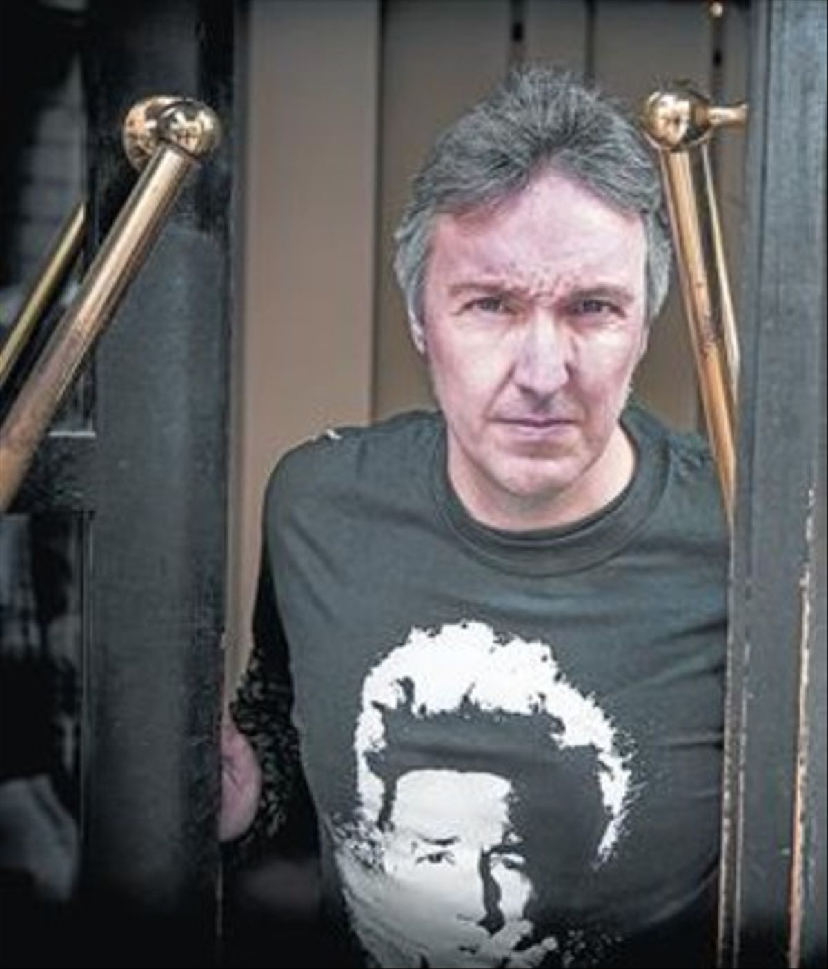El escritor barcelonés Carlos Zanón, en un céntrico hotel barcelonés.