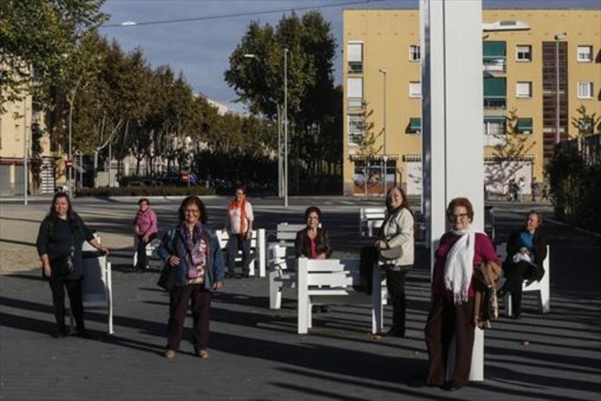Algunas de las Dones Sàvies de Sant Cosme.Antonia, Nico, María, Mercedes, Marti Cruz, Adoración, Iluminada y Emilia.