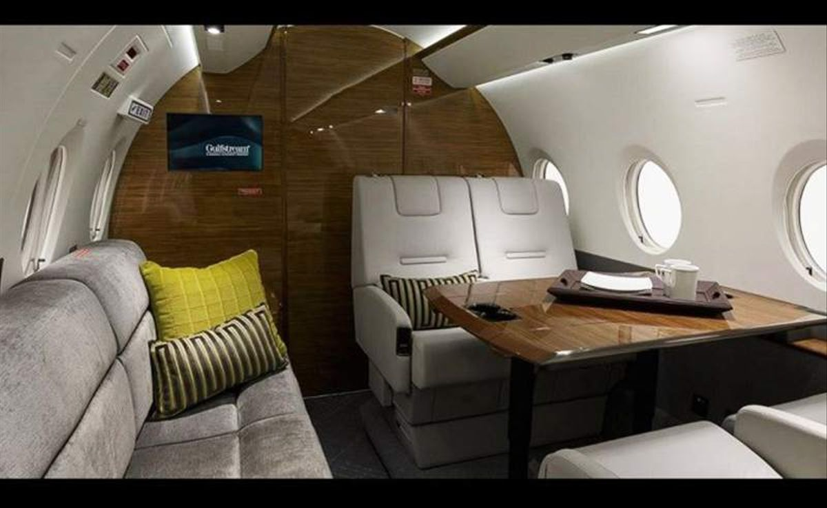 El interior del Gulfstream G200F que ha adquirido el jugador del Real Madrid Cristiano Ronaldo