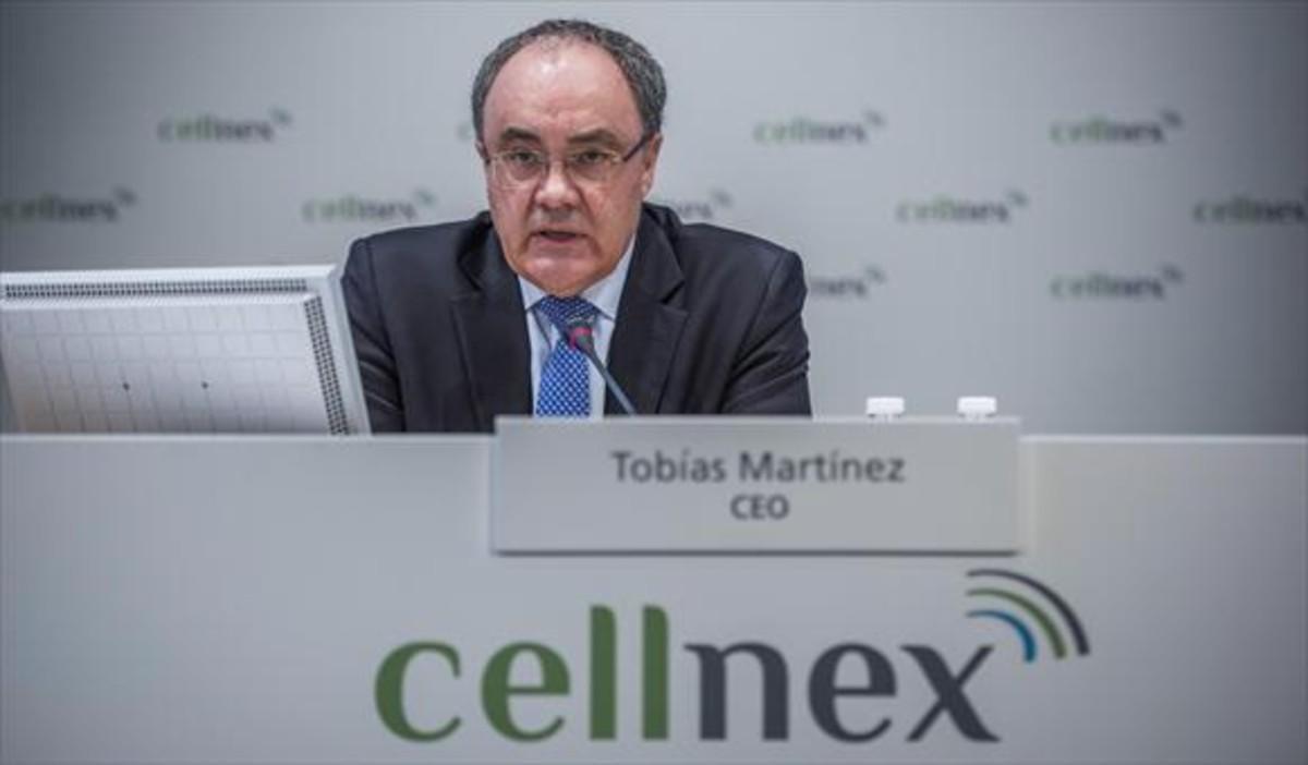 Tobías Martínez,consejero delegado de Cellnex.