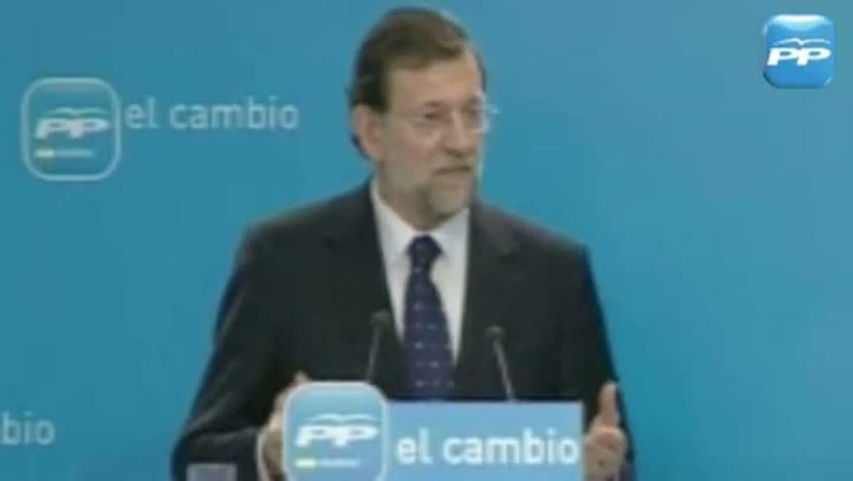 Rajoy dijo en el 2010 que subir impuestos era un disparate.