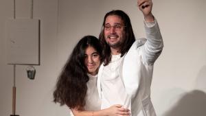 Sònia Masuda y Albert Martí, durante la representación.