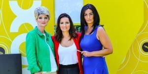 Olga Hueso, Silvia Abrily Mónica Pérez, tres de las actrices del programa de Neox 'Homo zapping'.