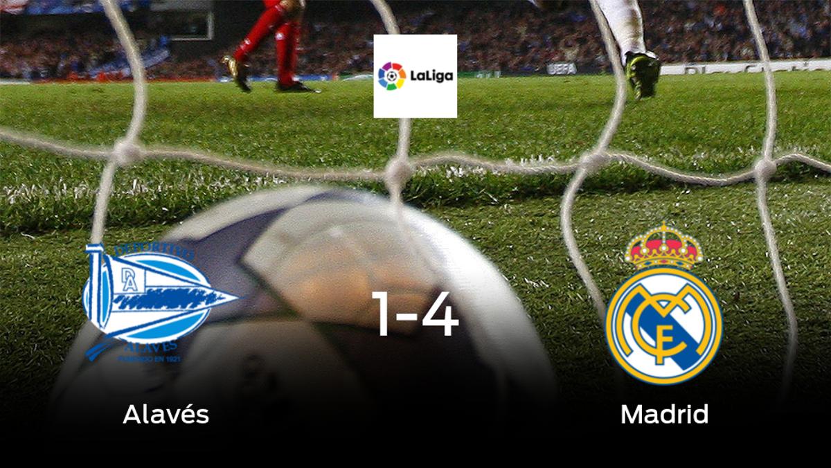 Triunfo del Real Madrid tras golear 1-4 en el estadio del Alavés