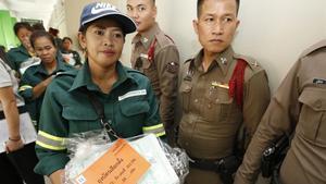 Tailandia se prepara para las elecciones del próximo 24 de marzo de 2019 en una oficina electoral de Bangkok.