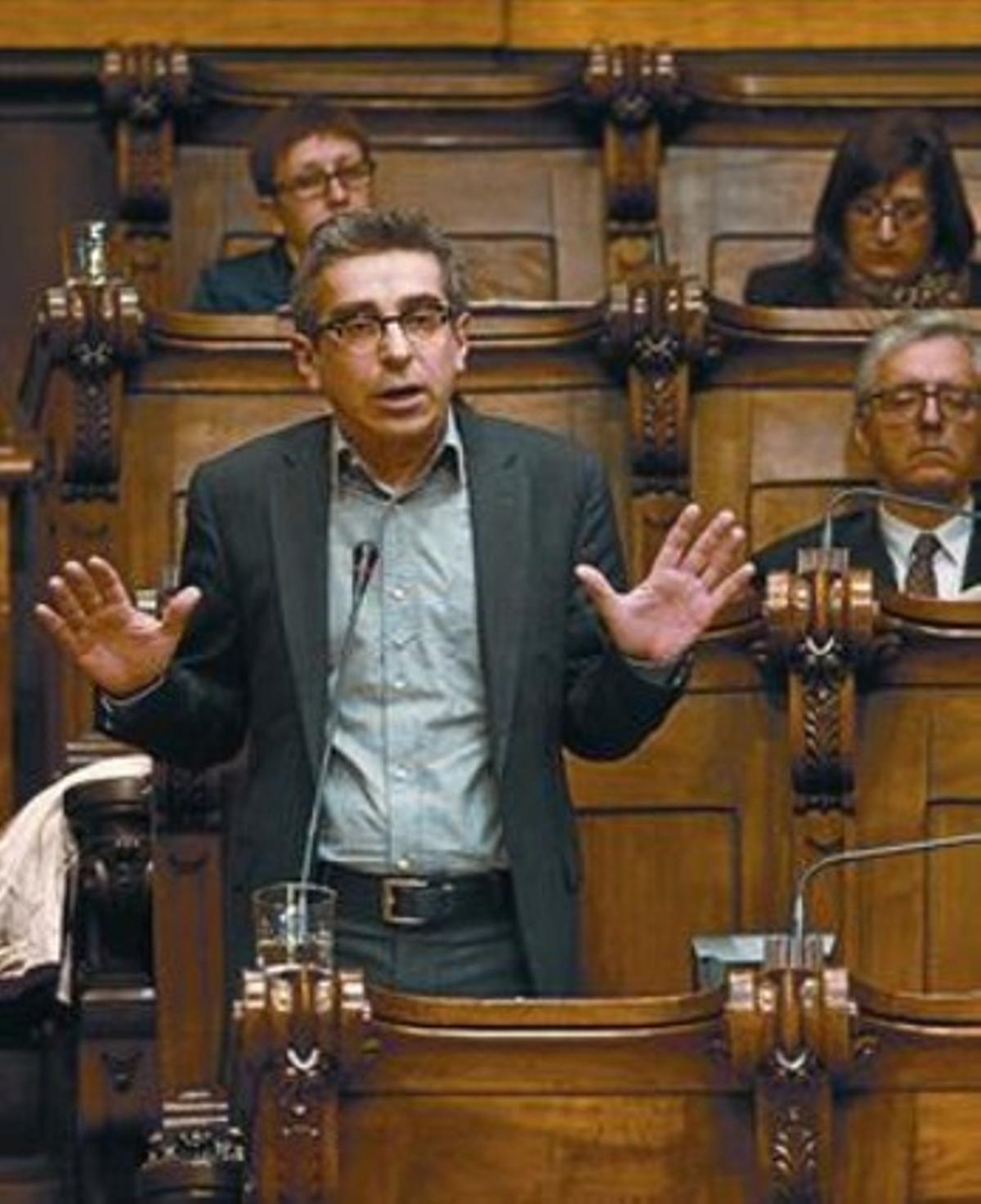 Jordi Martí, en el pleno extraordinario sobre juventud, el 18 de enero.