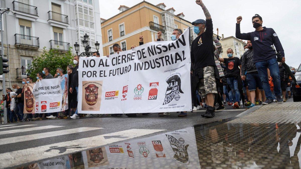 Manifestación de Nissan en Santander.