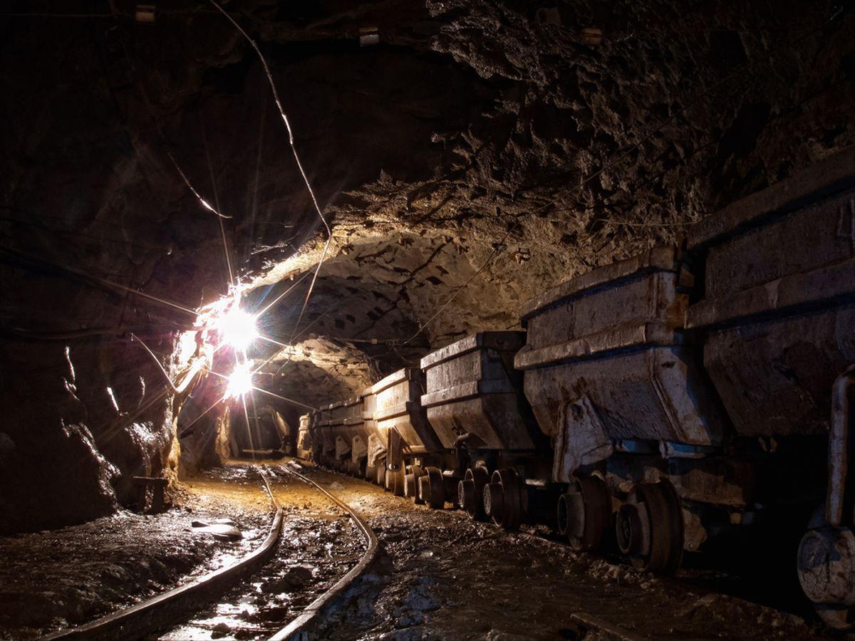 Imagen de una mina de oro.