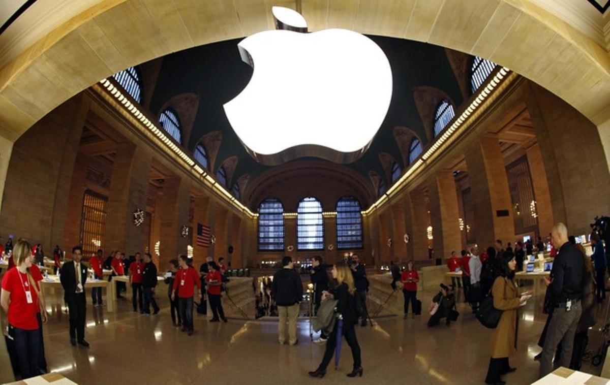 La nueva tienda de Apple en la Central Station de Nueva York.