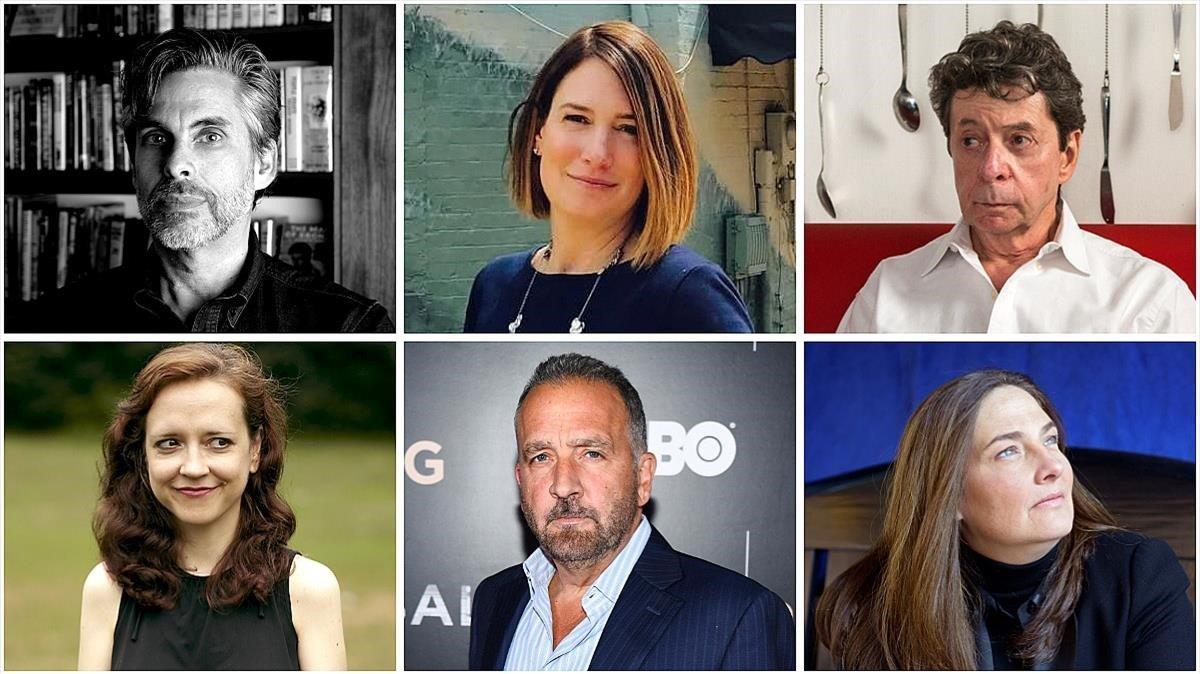 Michael Chabon, Gillian Flynn, Richard Price, Megan Abbott, George Pelecanos y A. M. Homes.