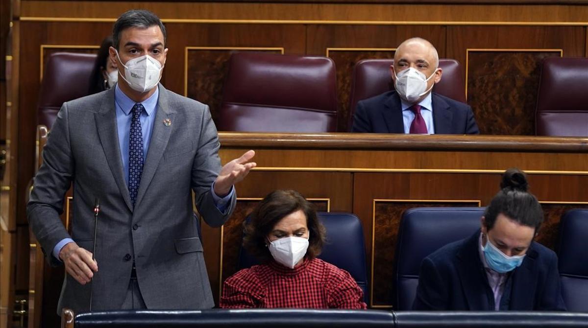 Sánchez pide un Govern liderado por el PSC y los Comuns y acusa a JxCat de tener en sus listas a personas que usan expresiones de odio y xenófobas. Miriam Nogueras le recuerda la victoria independentista y la presencia de presos como Hásel.