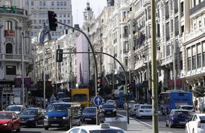 Imagen de la calle Gran Via de Madrid.