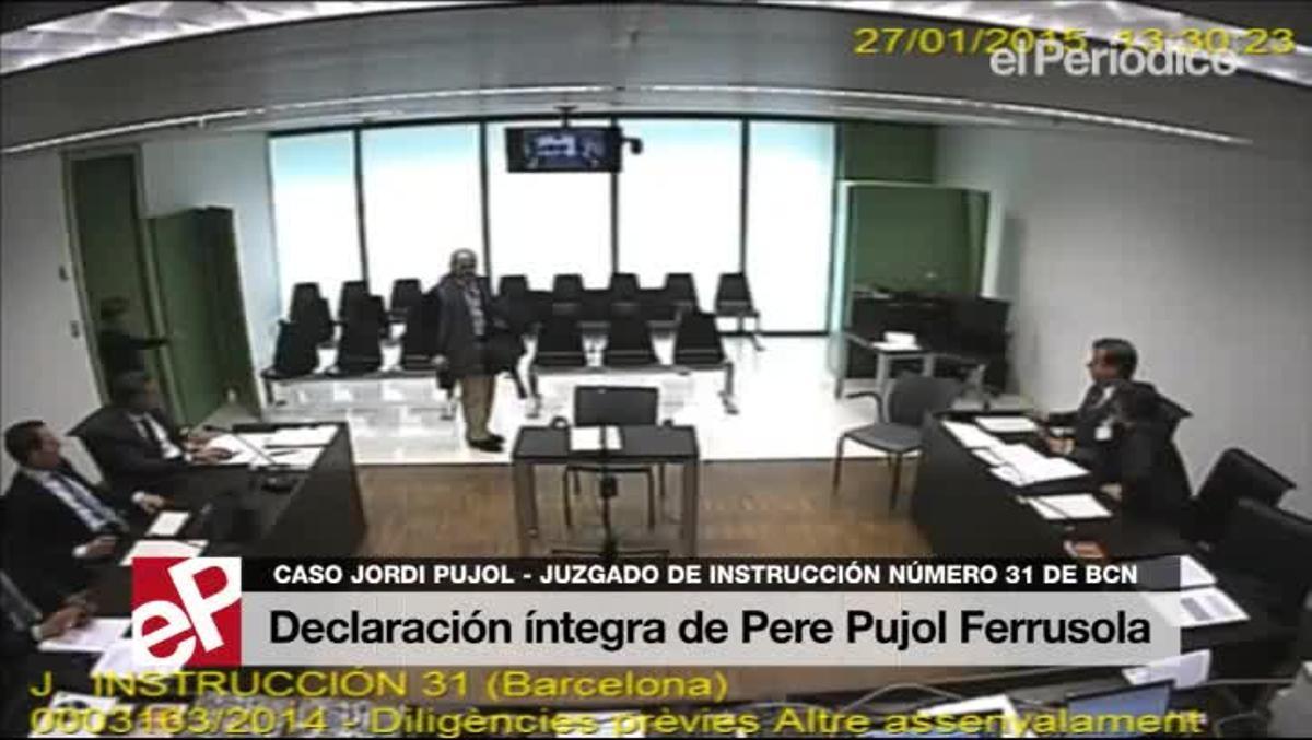 Declaración íntegra de Pere Pujol Ferrusola.