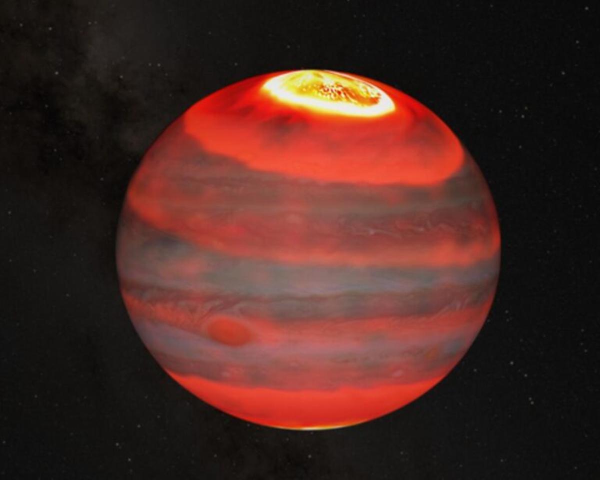 Las auroras de Júpiter provocan el calentamiento del gigante gaseoso y la aurora más poderosa del Sistema Solar
