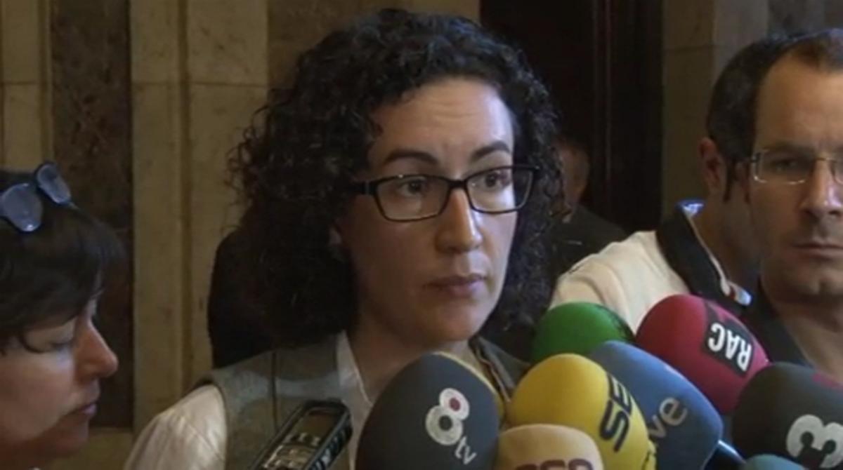 La secretaria general de ERC, Marta Rovira, justifica el veto a la comparecencia de Gordó.