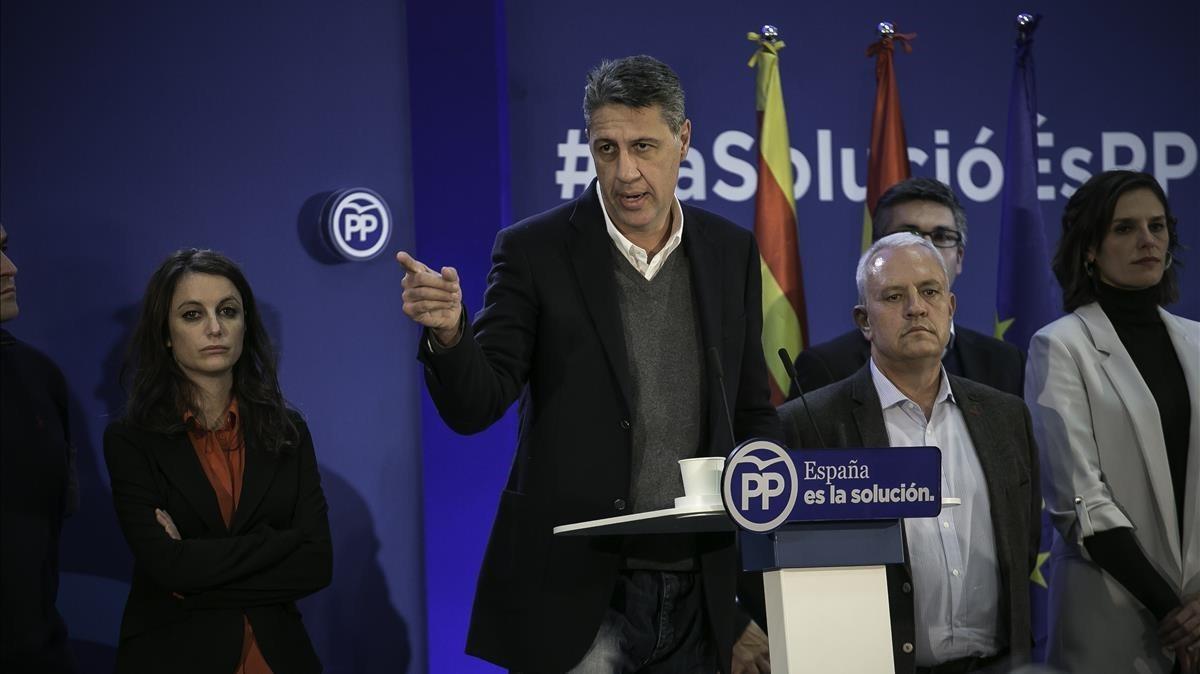 Comparecencia del Xavier García Albiol para valorar los resultados electorales.